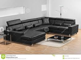 Of Living Rooms With Leather Furniture A Modern Minimalist Living Room With Leather Sofa Stock Photo