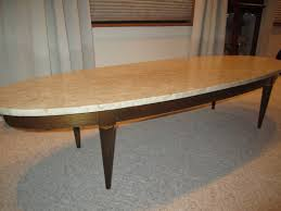 coffee table ideas marble top oval surfboard style coffee table