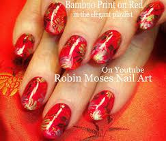 Chinese Nail Art Designs Nail Art Tutorial Diy Nail Design Chinese Red Bamboo