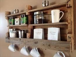 DIY Pallet kitchen pot rack and shelf: