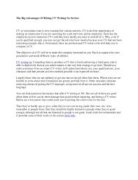 Curriculum Vitae Writer The Huge Advantages Of Hiring Cv Writers Service