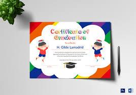Pre School Graduation Certificate Template