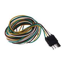 magideal 300cm 4 pin rv trailer light wiring harness line plug magideal 300cm 4 pin rv trailer light wiring harness line plug adapter flat cable connector