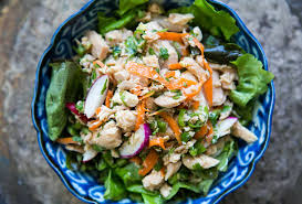 Asian salad with tuna