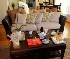 image of decorating a coffee table what to put on a coffee table