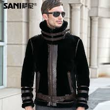 bedding gorgeous leather fur coat for men 26 sheepskin double faced fashion real genuine natural coats