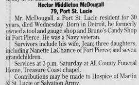 Obituary for Hector Middleton McDougall (Aged 79) - Newspapers.com