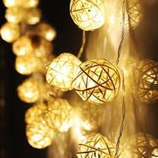 Party Wedding DIY Decoration 10 LED Color Rattan Ball String Fairy Lights  For Xmas Wedding Party