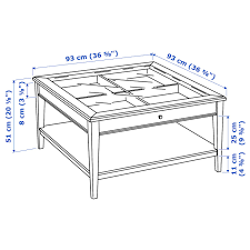 See the detailed pictures here. Liatorp Coffee Table White Glass 36 5 8x36 5 8 Ikea