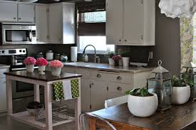Gray Kitchen with White Cabinets eclectic-kitchen