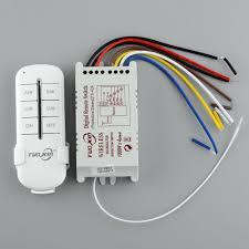 220V 4 Channel light switch Wireless Digital Remote Control Lamp