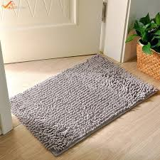 soft microfiber bath mat rug for bathroom vanity bathtub shower dorm room pink