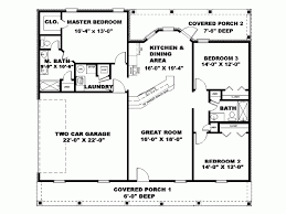 1000 sq ft house plans 3 bedroom lovely ranch style house plan 3 beds 200 baths