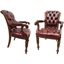 pair of william iv gany library chairs