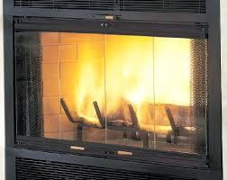 EZ Door Plus Zero Clearance Fireplace Door With Anodized Aluminum Black Fireplace Doors