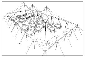 plan wedding reception cad tent layout for wedding reception with 150 guests in anacortes
