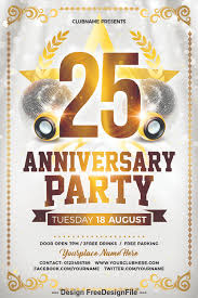 Anniversary Party Psd Flyer Templates Free Download