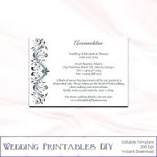 Hotel Accommodations Cards Wedding Hotel Information Card Template Skincense Co