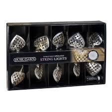 Battery Operated Dusk Till Dawn Light Dusk Till Dawn Silver Metal Hearts String Lights Concord