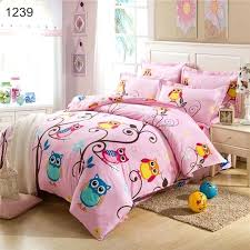 queen size kids bedding pink and colorful nature night owl print jungle animal cotton kids and queen size kids bedding