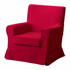 ikea rp jennylund armchair slipcover idemo red chair cover