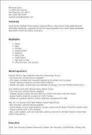 Food Service Assistant Sample Resume Food Service Assistant shalomhouseus 2