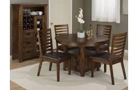 jofran coolidge corner 6 piece 48 round dining set in warm brown
