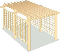 how to build a pergola for backyard shade diy mother earth news pergola frame