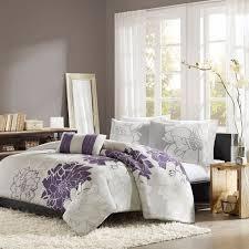 com home essence chloe 4 piece bedding set queen purple home kitchen