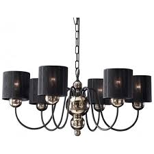 garbo traditional bronze ceiling light with black string shades