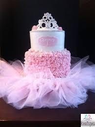 13 Girl With Tutu First Birthday Cakes Photo Baby Ballerina