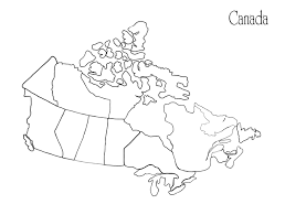 Canada Map Coloring Page 425645 Jpg