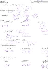 simplifying square roots worksheet answers printable