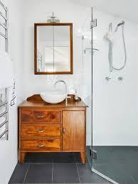 transitional bathroom ideas.  Bathroom Inspiration For A Small Transitional Master Bathroom In Sydney With Medium  Wood Cabinets Corner Throughout Transitional Bathroom Ideas