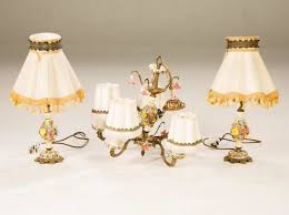porcelain chandelier antique italian style flower design five arm ceiling light fixture
