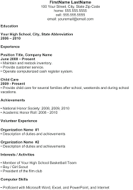 High School Resume Objective Examples Resume Creator Simple Source
