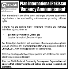 Jobs In Plan International Pakistan 28 May 2017