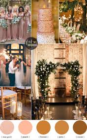 Rose gold wedding colour for industrial wedding