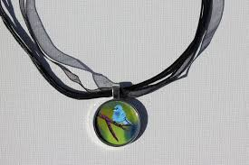 blue bird pendant and necklace by kimberley trich