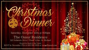 Christmas Dinner Invitation Facebook Cover Video Template Postermywall