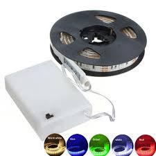 <b>DC5V 3Pcs</b> AA Battery Powed SMD5050 LED RGB Strip Light ...