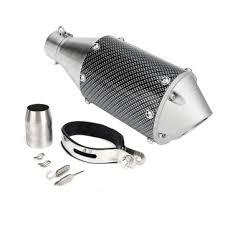 38-51mm <b>universal</b> stainless <b>steel</b> motorcycle <b>carbon fiber</b> tail ...