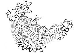 Small Picture Cheshire Cat Coloring Pages to download and print for free