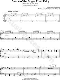 dance of the sugar plum fairy sheet music