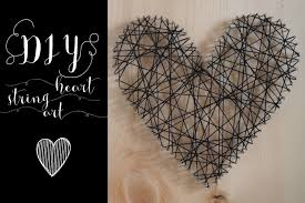 diy heart string art project for home