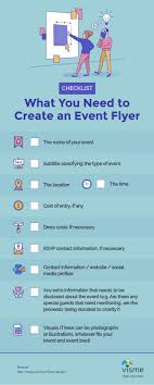 Create Event Flyer Infographic Checklist What You Need To Create An Event Flyer