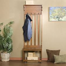 Oak Coat Rack Stand Unique OAK ENTRY BENCH Hall Tree Wood Coat Rack Shoe Storage Hats Stand