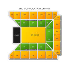 Eastern Michigan University Convocation Center Seating Chart Emu Convocation Center Eastern Michigan University 2019