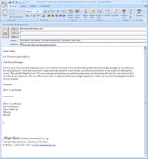 emailed cover letters. resume cover letter email format ...
