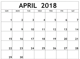 april 2018 word calendar april 2018 calendar template in word excel format free printable